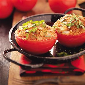 Herb-Topped Stuffed Tomatoes Recipe