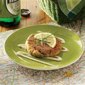 Herbed Cornmeal Crab Cakes Recipe