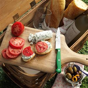 Herbed Goat Cheese Baguette Slices Recipe