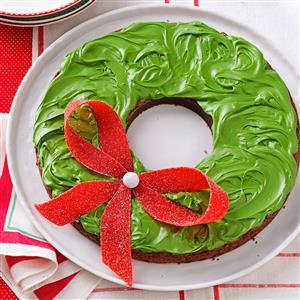 Holiday Wreath Brownies Recipe