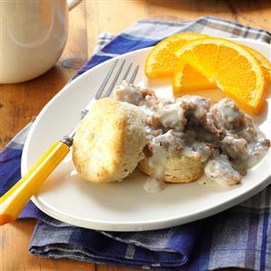 Homemade Biscuits & Maple Sausage Gravy Recipe
