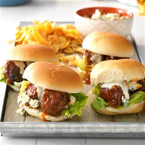 Honey Buffalo Meatball Sliders Recipe
