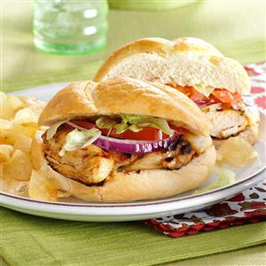 Honey-Citrus Chicken Sandwiches Recipe