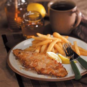 Honey-Fried Walleye