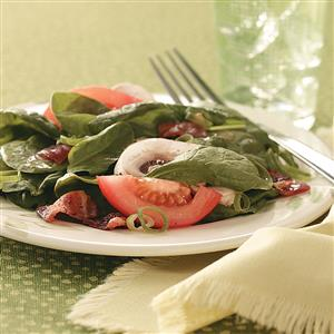 Hot Bacon Spinach Salad Recipe