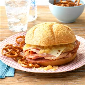 Hot Pineapple Ham Sandwiches