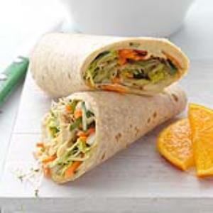 Hummus & Veggie Wrap-Up Recipe