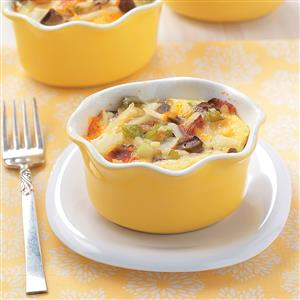 Individual Brunch Casseroles Recipe