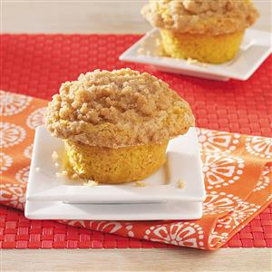 Isaiah's Pumpkin Muffins with Crumble Topping Recipe