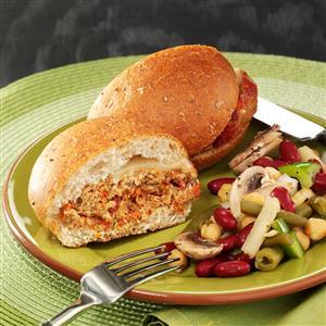 Italian Cheese Turkey Burgers Recipe