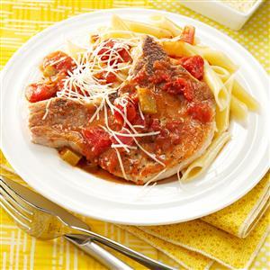 Italian Chops With Pasta Recipe