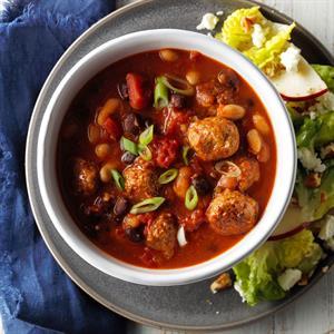 Italian Meatball 'n' Bean Soup Recipe