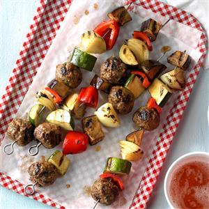 Italian Meatball Kabobs Recipe