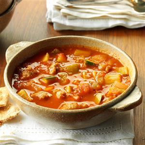Italian Sausage Zucchini Soup Recipe