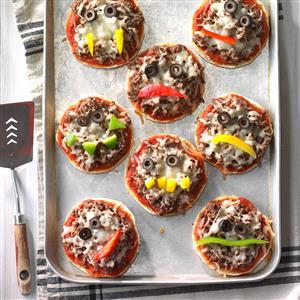 Jack-o'-Lantern Pizzas Recipe