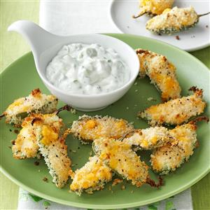 Jalapeno Poppers with Lime Cilantro Dip Recipe