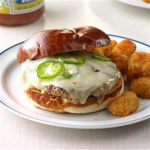 Jalapeno-Swiss Turkey Burgers Recipe