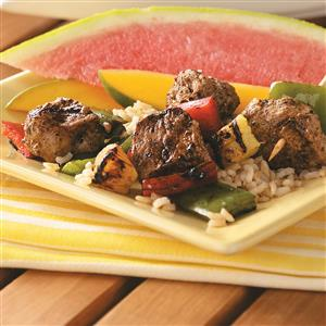 Jerk Pork & Pineapple Kabobs Recipe