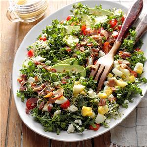 Kale & Bacon Salad with Honey-Horseradish Vinaigrette Recipe