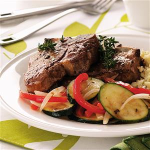 Lamb With Sauteed Veggies Recipe
