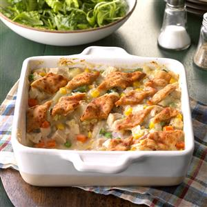 Lattice-Topped Turkey Casserole Recipe
