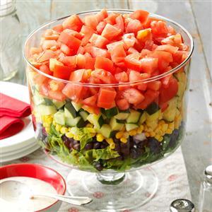 Layered Garden Bean Salad Recipe