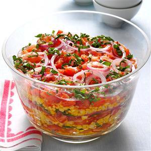 Layered Grilled Corn Salad Recipe