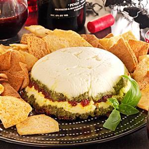 Layered Pesto Cheese Spread Recipe