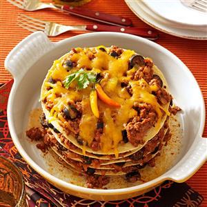 Layered Tortilla Pie Recipe