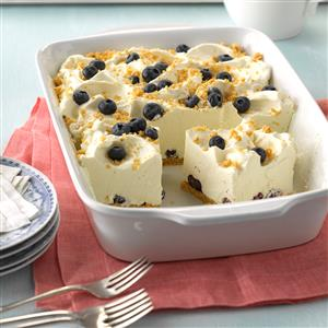 Lemon Chiffon Blueberry Dessert Recipe