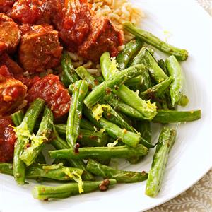 Lemon-Garlic Green Beans Recipe
