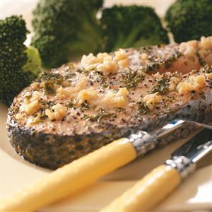 Lemon-Garlic Salmon Steaks Recipe