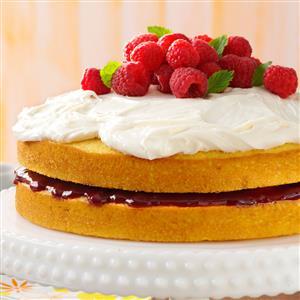 Lemon Raspberry-Filled Cake Recipe