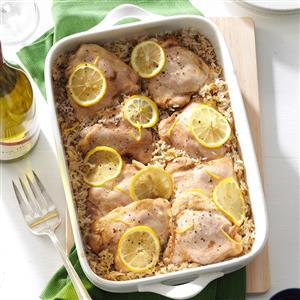 Lemony Chicken & Rice Recipe