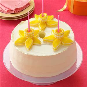 Lemony Daffodil Cake Recipe