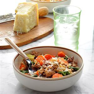 Lemony Greek Beef and Vegetables Recipe