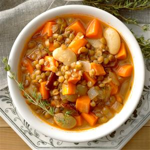 Lentil, Bacon and Bean Soup Recipe