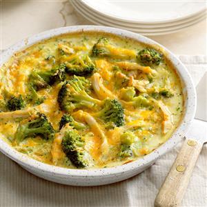 Light Chicken and Broccoli Bake Recipe