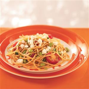 Linguine with Edamame and Tomatoes for 2 Recipe