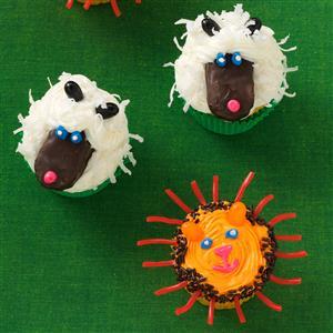 Lion and Lamb Cupcakes Recipe