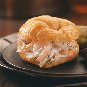 Lobster-Shrimp Salad Croissants Recipe