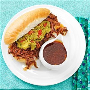 Machaca Beef Dip Sandwiches Recipe