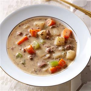 Makeover Beef & Potato Soup Recipe