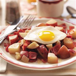 Makeover Hash and Eggs Recipe