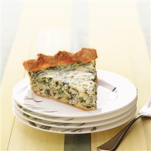 Makeover Sausage & Spinach Pie Recipe