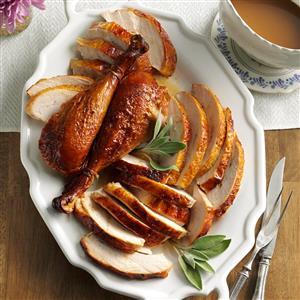 Maple-Sage Brined Turkey Recipe