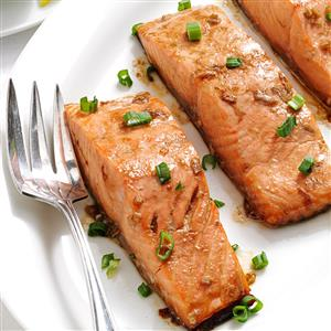 Maple Teriyaki Salmon Fillets Recipe