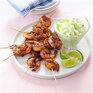 Margarita Granita with Spicy Shrimp Recipe