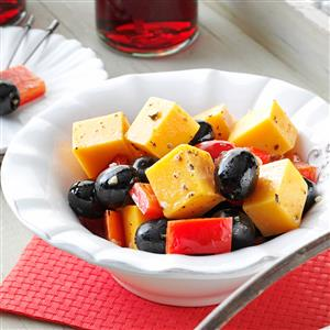 Marinated Cheese with Peppers and Olives Recipe