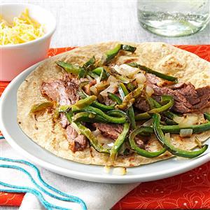 Marinated Steak & Pepper Fajitas Recipe